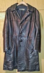 Zachovalý, poctivý starší kožený pánský kabát
