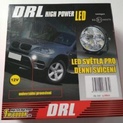 Svetla pro denní svícení DRL 2x4 led.12v.