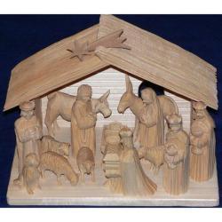 Dřevěné ručně vyřezávané betlémy z Vysočiny