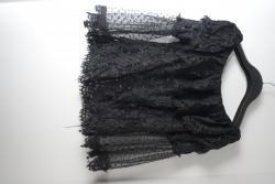 Černá průhledná krajková halenka Asos vel. M nová