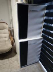 Skříňky, tv stolek, relaxační křeslo, taburet