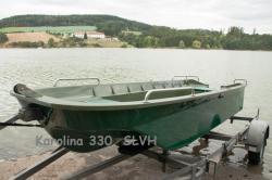 Pramice, rybářský člun, veslice,  loď Karolina 330