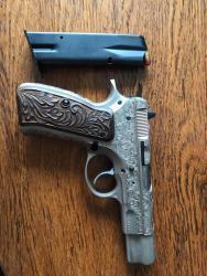 Prodám ručně gravírovanou pistoli CZ, vzor 75, Par