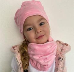 Dětská čepice s nákrčníkem (Minky)
