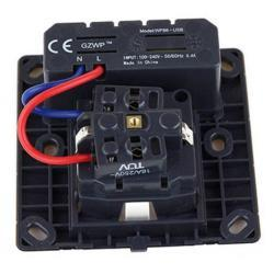 Zásuvka 220V pod omítku + 2x USB (1616787688/4)