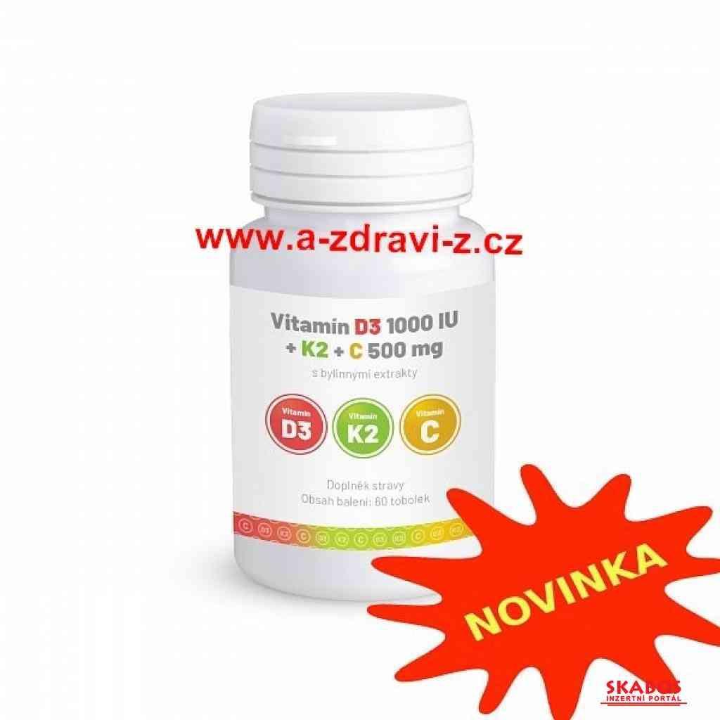 Vitamín D3+K2+C a produkty pro zdraví a imunitu (1/5)
