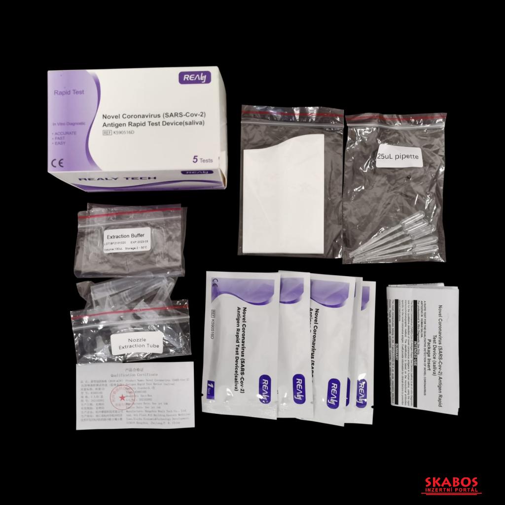 Antigenní Testy Realy Tech (Ze Slin), Balení 5Ks (1/1)