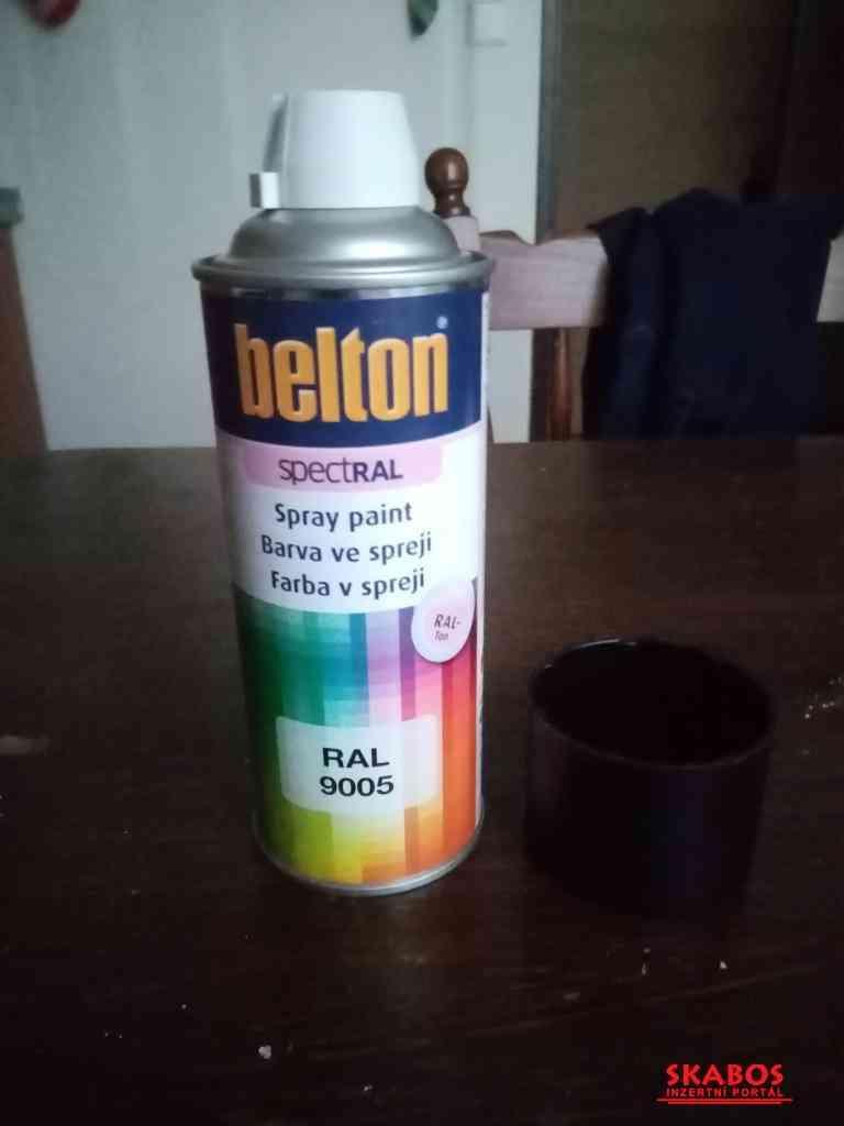 Černé barvi (BOLTON) RAL9005 MATNÁ (1/2)