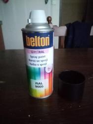Černé barvi (BOLTON) RAL9005 MATNÁ