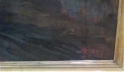 Jaroslav Blažek, Kostické stodole, olej na plátně, (1621278653/2)