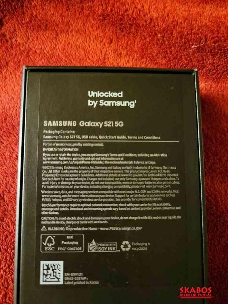 nový Samsung Galaxy S21- S21 Ultra 5G -128 GB odem (1/2)