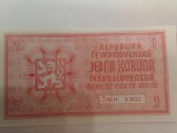 Prodám nevydanou bankovku 1 mobilizační koruna,UNC (1625936534/4)