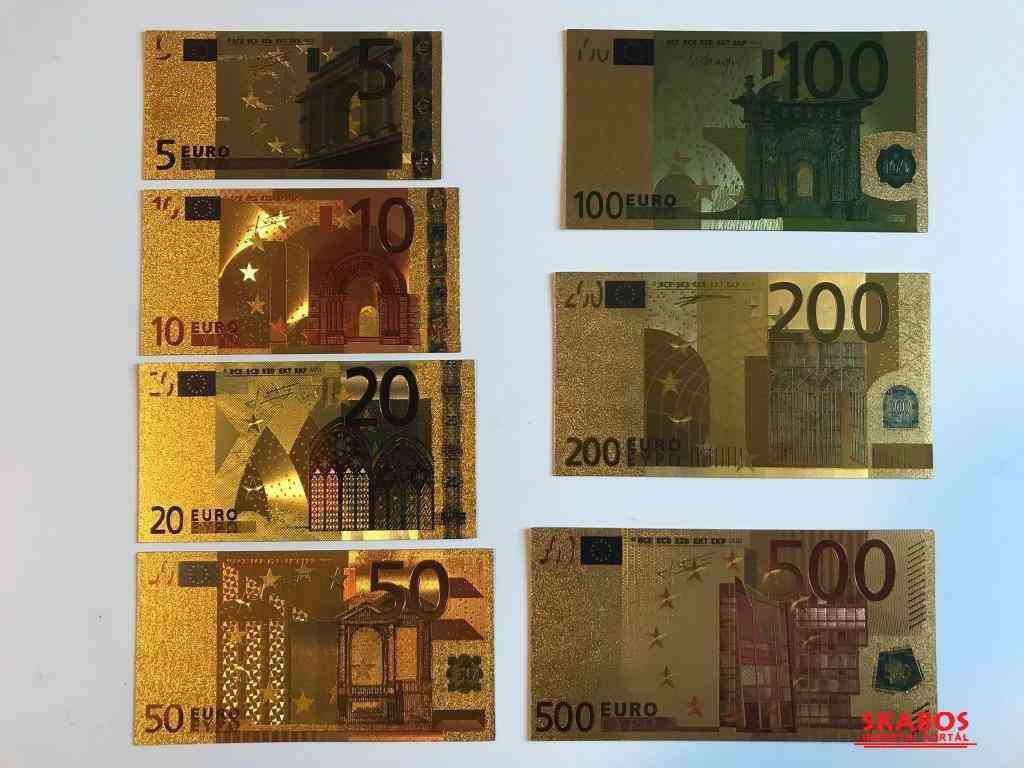 Gold bankovky sady UNC (1/4)