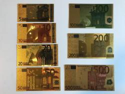 Gold bankovky sady UNC