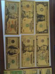 Gold bankovky sady UNC (1626254418/4)