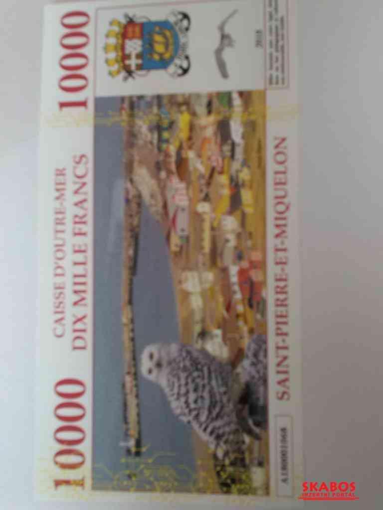 Bankovka TAAF UNC, Saint Miquelon 10 000 francs (1/2)