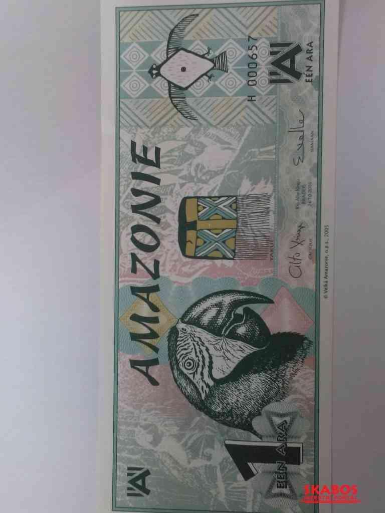 Bankovka 1 ARA Amazonia, UNC (1/2)