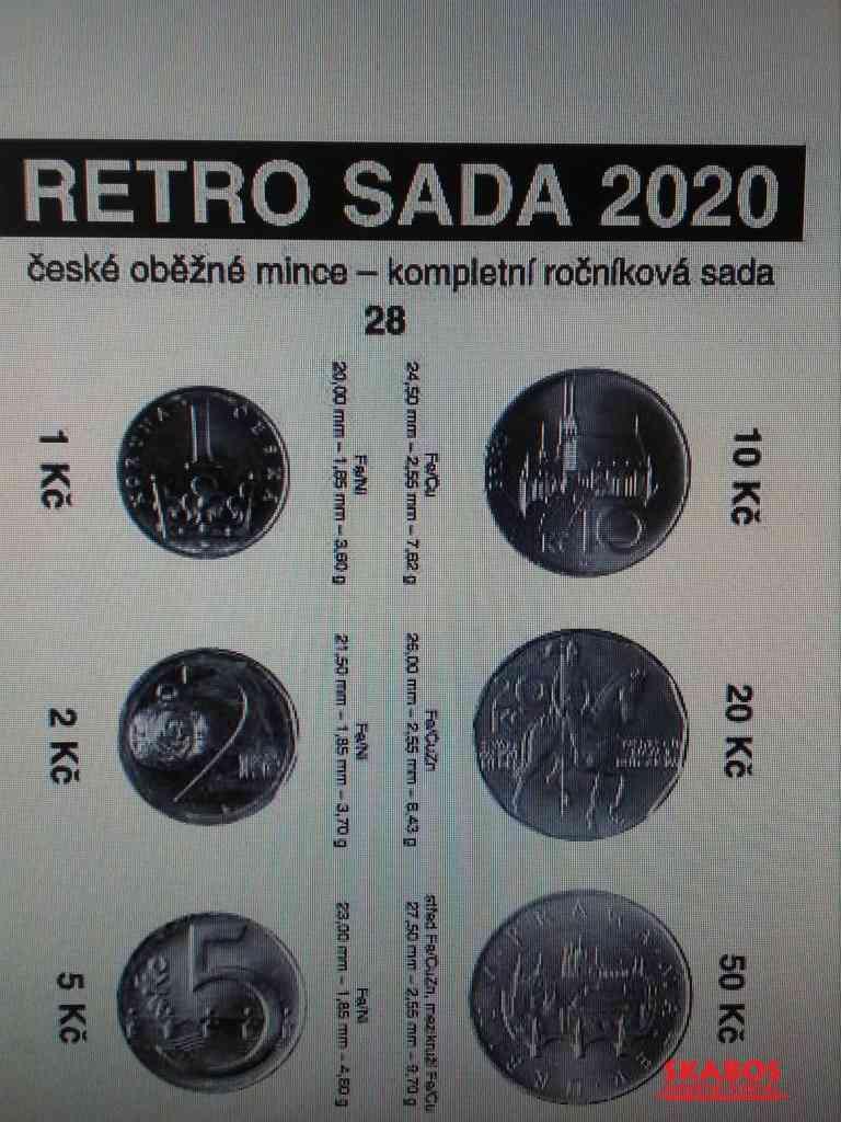 Sada oběžných mincí 2020 UNC (1/4)