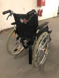 skládací invalidní vozík B+B s brzdama pro doprovo (1628363315/2)