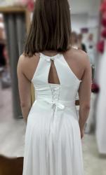 Svatební šaty splývavé, jednoduché, šněrovací (1629371167/9)