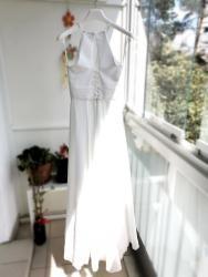 Svatební šaty splývavé, jednoduché, šněrovací (1629371170/9)