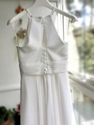 Svatební šaty splývavé, jednoduché, šněrovací (1629371171/9)