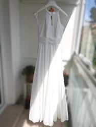 Svatební šaty splývavé, jednoduché, šněrovací (1629371479/9)