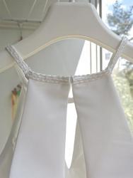 Svatební šaty splývavé, jednoduché, šněrovací (1629371481/9)