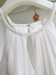 Svatební šaty splývavé, jednoduché, šněrovací (1629371482/9)