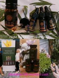 Bylinné doplňky a CBD oleje